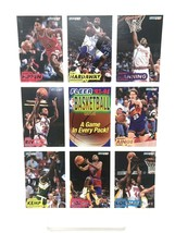 1993-94 Fleer Baskeball Cards Uncut Sheet Pippen Rivers Kemp Hardaway Co... - $9.49