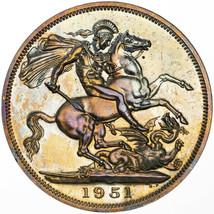 1951 UNITED KINGDOM 5 SHILLINGS FESTIVAL OF BRITAIN BU UNC COLOR TONED (MR) - $197.99