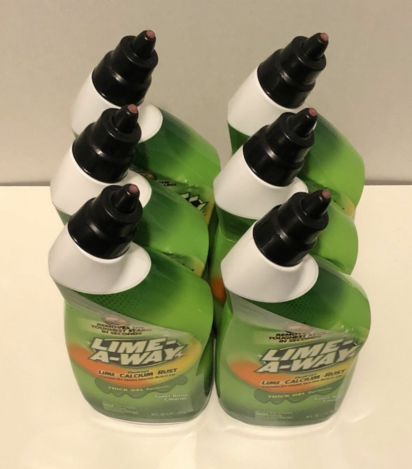 6 Lime A Way Lime Away Thick Gel Formula Toilet Bowl