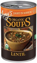 Amy's Organic Light In Sodium Lentil Soup 14.5 oz ( Pack of 12 ) - $44.30