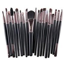 20Pcs Eyes Face Makeup Brushes Set 22Colors Pro Eyeliner Eyelash Eyeshad... - $194,12 MXN