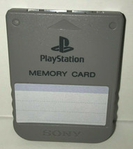 Playstation 1 Memory Card Gray PSX US/Japan PS1 Tested SCPH-1020 - $22.22 CAD