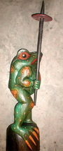 Frog Super Large Size Statue 39 inch with umbrella Hand carved in Bali image 3
