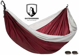 Outdoorser Nanook Double Camping Hammock Red/Grey - $42.35