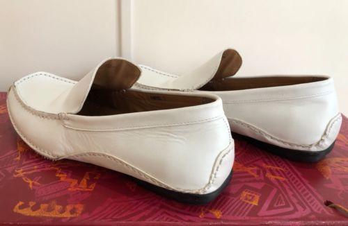 e9e19bb67ad Steve Madden Men s  P-Nevell  WHITE Leather Moc Toe Slip-On Loafer