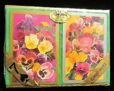 Primary image for VINTAGE CONGRESS  PLAYING CARDS - SEALED - POPPY FLOWERS
