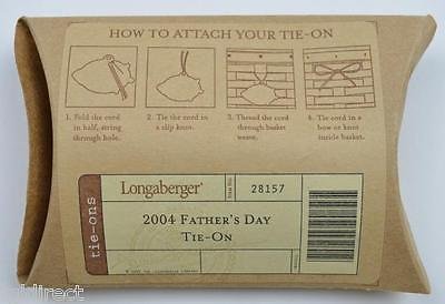 Longaberger 2004 Father's Day Pewter Basket Tie-On Collectible Home Decor