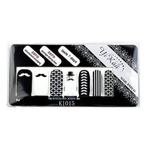 [Set of 4]Easy Handling 14 PCS Artificial False Nail Polish Sticker, Mustache