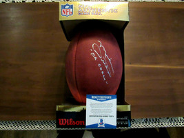 MIKE DITKA DA COACH HOF CHICAGO BEARS SIGNED AUTO DUKE WILSON FOOTBALL B... - $296.99