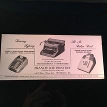Smith Corona Typewriter Ink Blotter - Printery Centralia Illinois - $10.58