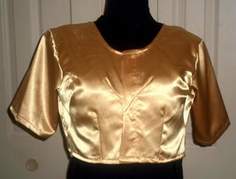 A83 Shiny gold, short-sleeve, tailored, bolero jacket - $11.87