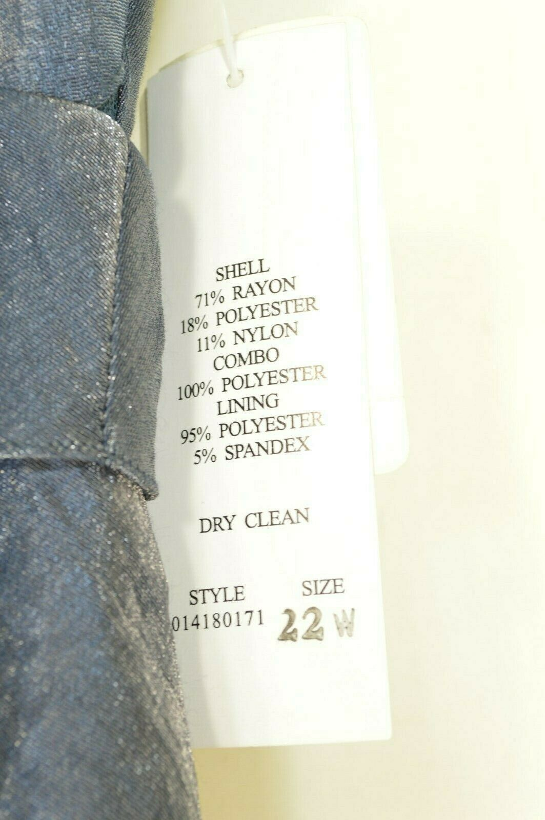 Adrianna Papell Woman dress 22W NWT gray/blue tiered ruffled flattering style