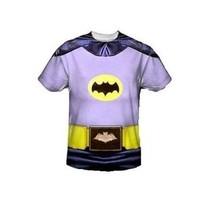 Batman Classique TV Sublimation Dc Comics Déguisement 1 Face Chemise Polyester - $30.36+