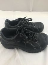 Keen sz 8 black leather tie shoes image 7