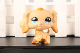Littlest Pet Shop #1716 Cocker Spaniel Puppy Dog Dipped Blue Eyes LPS Rare - $9.89