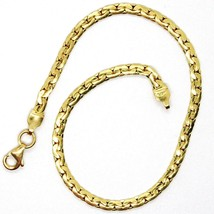Bracelet Yellow Gold 18K 750, Oval Dish, thickness 2.5 mm, made in Italy - $221.62