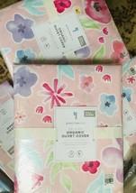 Pottery Barn Kids Delilah Duvet Cover Set Pink Queen 2 Standard Shams Fl... - $158.00