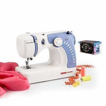 Usha Janome Dream Stitch Automatic Zig-Zag Electric Sewing Machine (White and Bl - $425.00