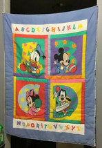 Disney Dundee Mills Baby Mickey Minnie Mouse Donald Goofy ABC Comforter ... - $133.65