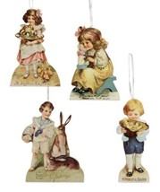 Bethany Lowe Vintage Coll Easter Bunny Spring Children Ornaments 4pc Dec... - $14.95