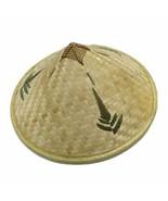 Chinese Style Bamboo Rattan Cone Hat Handmade Weave Straw Rain Sun Shade... - $16.67