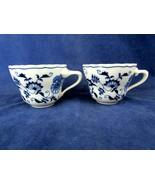 Blue Danube Coffee Cups Backstamp Reg. U.S. Pat. Off. - set of 2 - $11.88