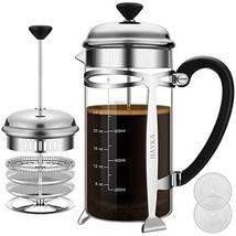 French Press Coffer Tea Maker (34 oz), BAYKA 304 Stainless Steel Coffee ... - $29.89