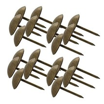"MroMax Upholstery Nails Tacks 0.55"" Head Dia Antique Round Thumb Push Pins for F"