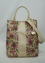 NWT Brahmin Amelia Leather Satchel/Shoulder Bag in Ivory Labyrinth - $279.00