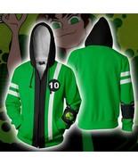 3D Anime Ben-10 Printing Hoodie Tennyson Cosplay Casual Zipper Jacket Sw... - $32.48
