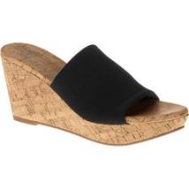 Faded Glory Women's Elastic Wedge Sandal, Black... - $15.83