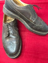 Dr Martens AirWair 3989 Brown Brogue Wing Tip Lace-up Oxford Men US 9 Shoe - $51.45
