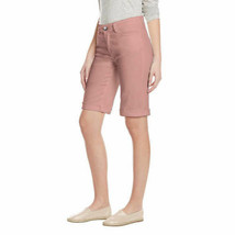Buffalo David Bitton Ladies' Mid Rise Bermuda Shorts Pink NWT image 2