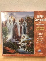 HORSE SURROUND jigsaw puzzle 1998 waterfall Steve Kushner art - $27.24