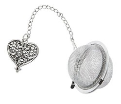 Ornate Heart Charm Tea Infuser Ball - By Ganz - €10,16 EUR