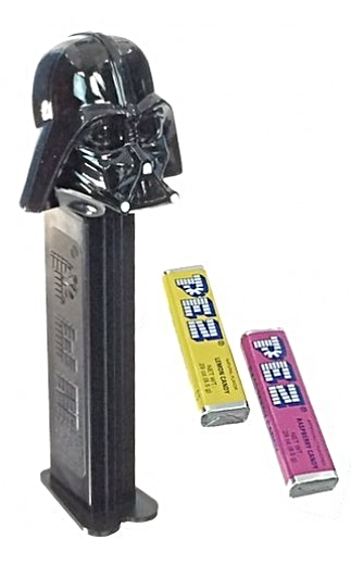 Star Wars PEZ 1990s Darth Vader Dispenser w//Feet Mint in Package with Candy
