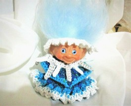 "DAM ICICLES TROLL 2.5"" doll ooak Vintage Christmas 60's-70's Winter ice ... - $37.62"