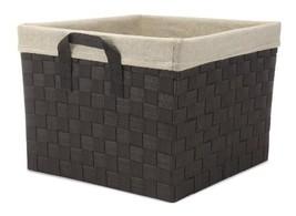 Whitmor Woven Strap Storage Tote Basket, W/Liner, Cream (TOTE W/LINER) - $37.43