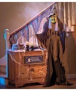 6-Ft. Standing Wicked Witch Halloween Props Party Decoration Her Eyes Li... - $44.88