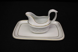 Vintage VA Vista Alegre matching Creamer with Underplate on White Porcelain - $39.99