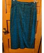 CJ Banks Christopher Dress Skirt Size 10 Blue Green Modest Womens Long - $19.98