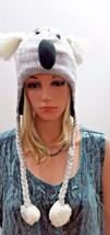 NEW ADULTS PLUSH KNIT FLEECE ANIMAL CAP HAT BEANIE W/TASSEL KOALA NEW - $14.01