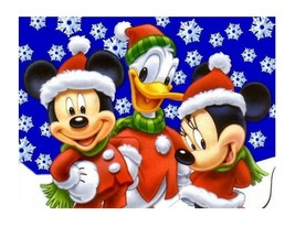 Mickey Mouse Christmas edible cake image cake topper decoration frosting... - $7.80