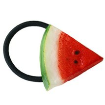 Set Of 5 Watermelon Hair Rope Rubber Band Ponytail Holders Hairpin Headdress
