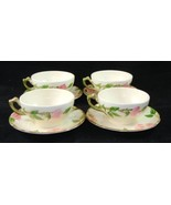 Set of 4 Vintage Franciscan Desert Rose Cups and Saucers USA Made - $29.95