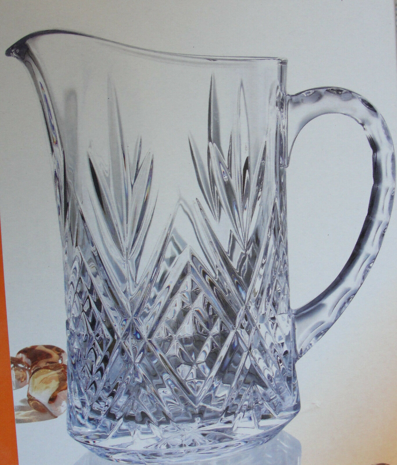 """CRISTAL D'ARQUES 'PARIS"""" PITCHER 24%LEAD CRYSTAL MADE IN FRANCE CLEAR 46OZ. NEW  - $149.75"""