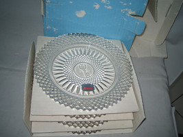 FOSTORIA  AVON -92ND ANNIVERSARY 4 Glass Plates in original box - $35.99