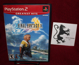Final Fantasy X PS2 COMPLETE CIB Square-Enix RPG GH FFX Sony - $14.50
