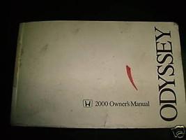 Owners Manual 2000 Honda Odyssey - $9.64