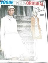 Vintage Vogue 2301 Paris Designer Guy Laroche Original Cowl Neck Dress Scarf FF - $37.39